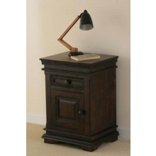 Malava Solid Wood Night Stand in Warm chestnut