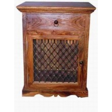 Honey Solid Wood Night Stand