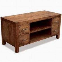 Grapho Solid Wood Tv Unit