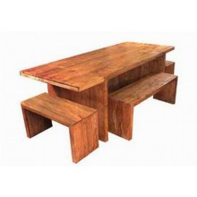 Dewey Extendable Solide Sheesham Wood Dining Table