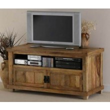 Barun Tv Unit With Side Towers (Honey Finish)