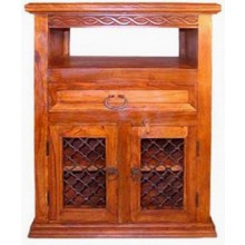 Slab Wall Mount Sheesham Wood TV Unit