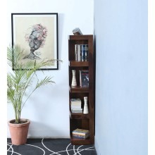 Anderson Solid Wood Book Shelf in Provincial Teak Finish