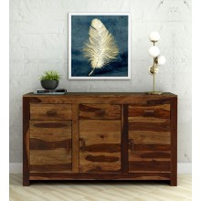 Warrican Solid Wood Sideboard in Rustic Teak Finish