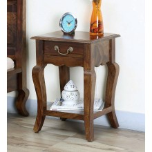 Boho Bed Anne Solid Wood Night Stand in Provincial Teak Finish