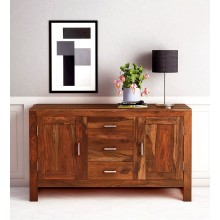 Jett Sideboard Solid Wood Sideboard in Rustic Teak Finish