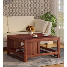Lynet  Solid Wood Coffee Table in Honey Oak Finish