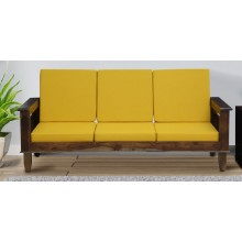 Marriott Wooden Sofa Solid Wood 3 Seater Sofa in Provincial Teak Finish