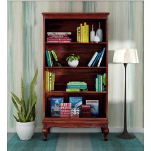 Portus Solid Wood Book Shelf in Honey Oak Finish