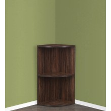 Hamlin Corner Bookshelf Brown Finish