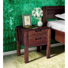 Drewno Bed Enkel Solid Wood Night Stand in Provincial Teak Finish