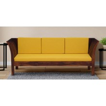 Raiden 3 Seater Sofa in Honey Oak Finish