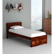 Walken Solid Wood Single Bed in Honey oak Finish