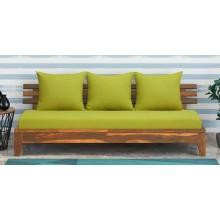 Marriott Wooden Sofa Wood 3 Seater Sofa In Rustic Teak Finish