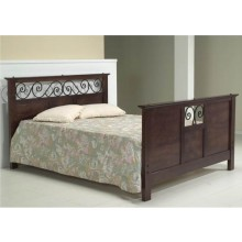 Swirl Solid Sheesham Wood Bed