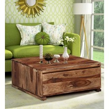 Bradford Solid Wood Coffee Table in Rustic Teak Finish