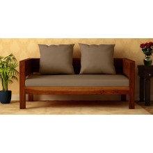 Raiden 2 Seater Sofa in Honey Oak finish