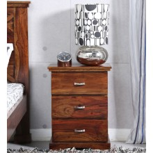 Thee drawer side table