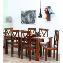 Sheesham Wood Dining Table With 6 Chairs