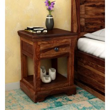 Allan Bed Stanfield Solid Wood Night Stand in Provincial Teak Finish