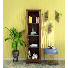 Eve Loft Solid Wood Book Shelf in Provincial Teak Finish