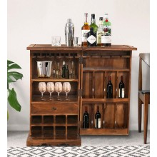 Dumont Bar Cabinet In Honey Finish
