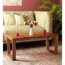 Lynet Solid Wood Coffee Table in Provincial Teak Finish